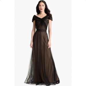 Elegant Tadashi Shoji black gown